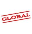 Global Watermark Stamp vector image