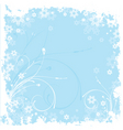 winter grunge vector image