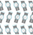 hand watch time business seamless pattern design vector image