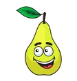 Happy grinning ripe pear fruit vector image