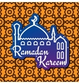 Ramadan greeting card with mosque silhouette vector image