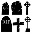 Grave Stones Set vector image vector image