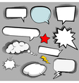 Comic speech bubbles icons collection of cloud vector image