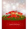 background with presents and a ribbons vector image