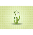 loddon lily on the green background vector image vector image