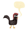 cartoon chicken with speech bubble vector image