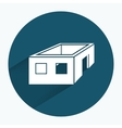 House icon Unfinished building without roof vector image