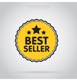 Best seller isolated badge or label vector image