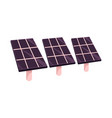 flat solar panels battery sun power station vector image