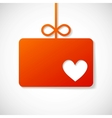 Orange paper banner by Valentins holiday vector image