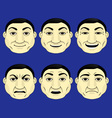 Set of different character expressions vector image