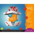 Special offer in a gift box Gift coupon vector image