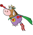 Super Hero Cow Fly vector image