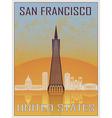 San Francisco 2 Vintage Poster vector image