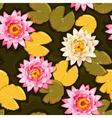 Blooming lotus seamless vector image