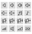 line speaker icons set vector image