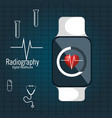 cardiology medical service isolated vector image
