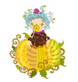 happy halloween cute cheerful little witch vector image vector image