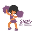 Smiling beautiful sporty teenager cheerleader girl vector image