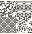 4 seamless vintage floral patterns vector image