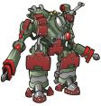 robot warrior vector image