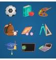 Cartoon Education Icon Set vector image vector image