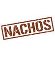 nachos stamp vector image