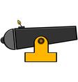 Cartoon cannon vector image