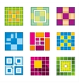 Geometric cube square shapes for logo vector image
