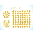 Gold splashes set vector image