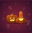 happy halloween banner pumpkin traditional vector image