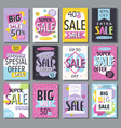 special offer big sale flayer vector image