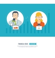 Technical support assistant Social network vector image