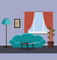 vintage style living room vector image
