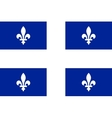 Flag of Quebec in correct proportions and colors vector image