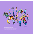 Isometric People Society vector image