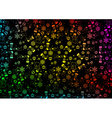 Colorful Christmas Background Texture vector image vector image