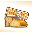 logo of bread vector image