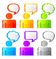 Speech icons vector image