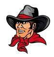 American cowboy vector image vector image