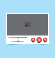 video player v5 vector image vector image