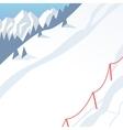 Outdoor winter landscape background vector image