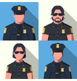 avatars of police officer vector image