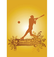 baseball poster3 vector image