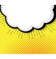 blank pop art comic book speech bubble vector image