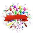 Celebration composition vector image
