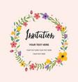 wedding invitation greeting card circle vector image
