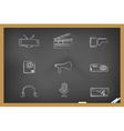 blackboard media tools icons vector image vector image
