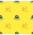 Seamless pattern with snake and chinese zodiac vector image