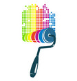 roller for painting colorful vector image vector image